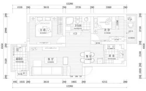 80平米简欧装修 精打细算打造温馨家
